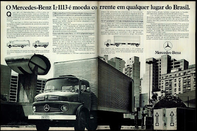 propaganda caminhão Mercedes-Benz L-1113 - 1978.  brazilian advertising cars in the 70s; os anos 70; história da década de 70; Brazil in the 70s; propaganda carros anos 70; Oswaldo Hernandez;