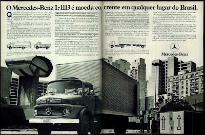 propaganda caminhão Mercedes-Benz L-1113 - 1978.  brazilian advertising cars in the 70s; os anos 70; história da década de 70; Brazil in the 70s; propaganda carros anos 70; Oswaldo Hernandez;