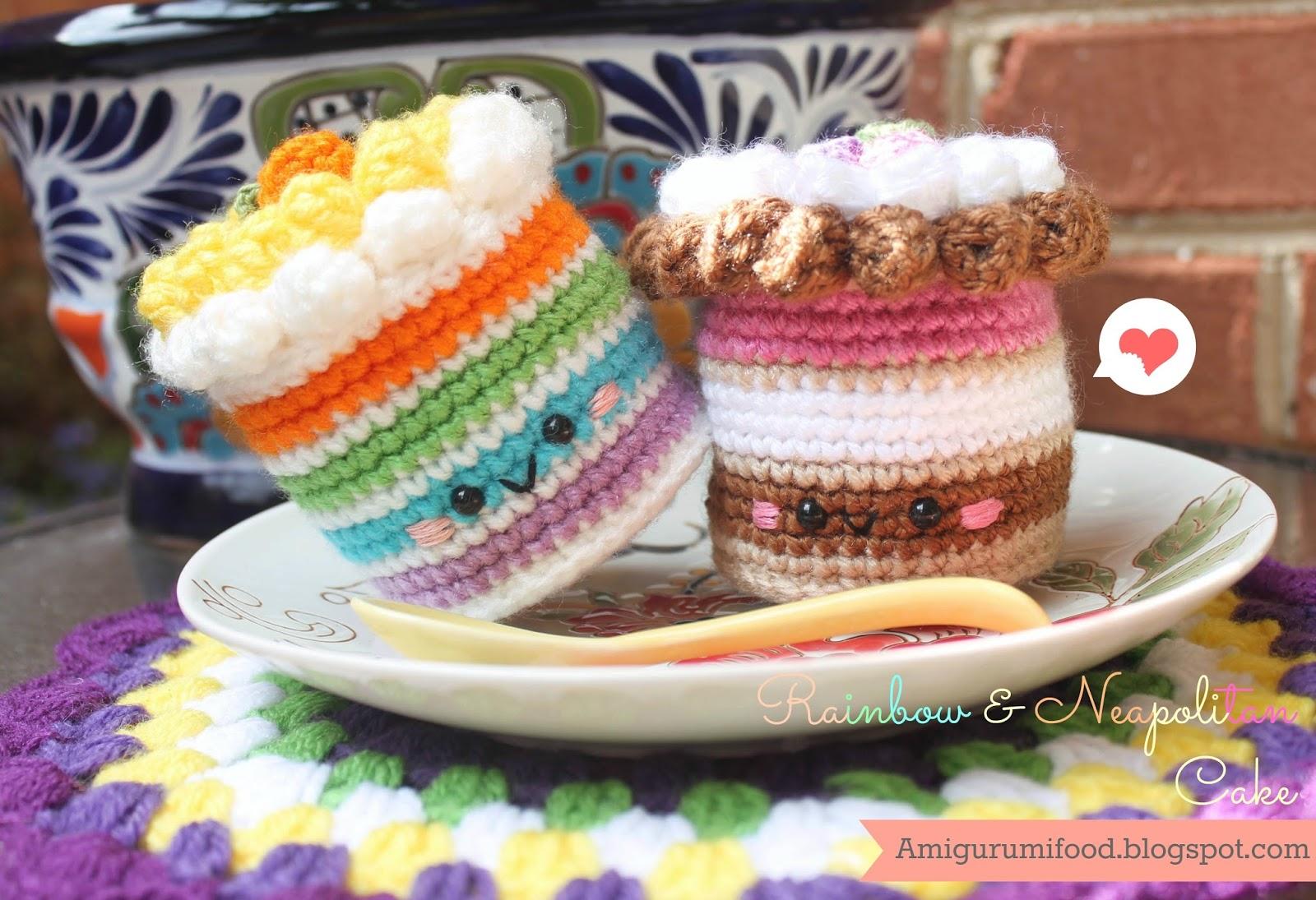 Amigurumi Harry Potter Free Pattern : Amigurumi Food: Rainbow & Neapolitan Cake Free pattern!