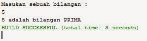 Source Code Java Netbeans Menentukan Bilangan Prima