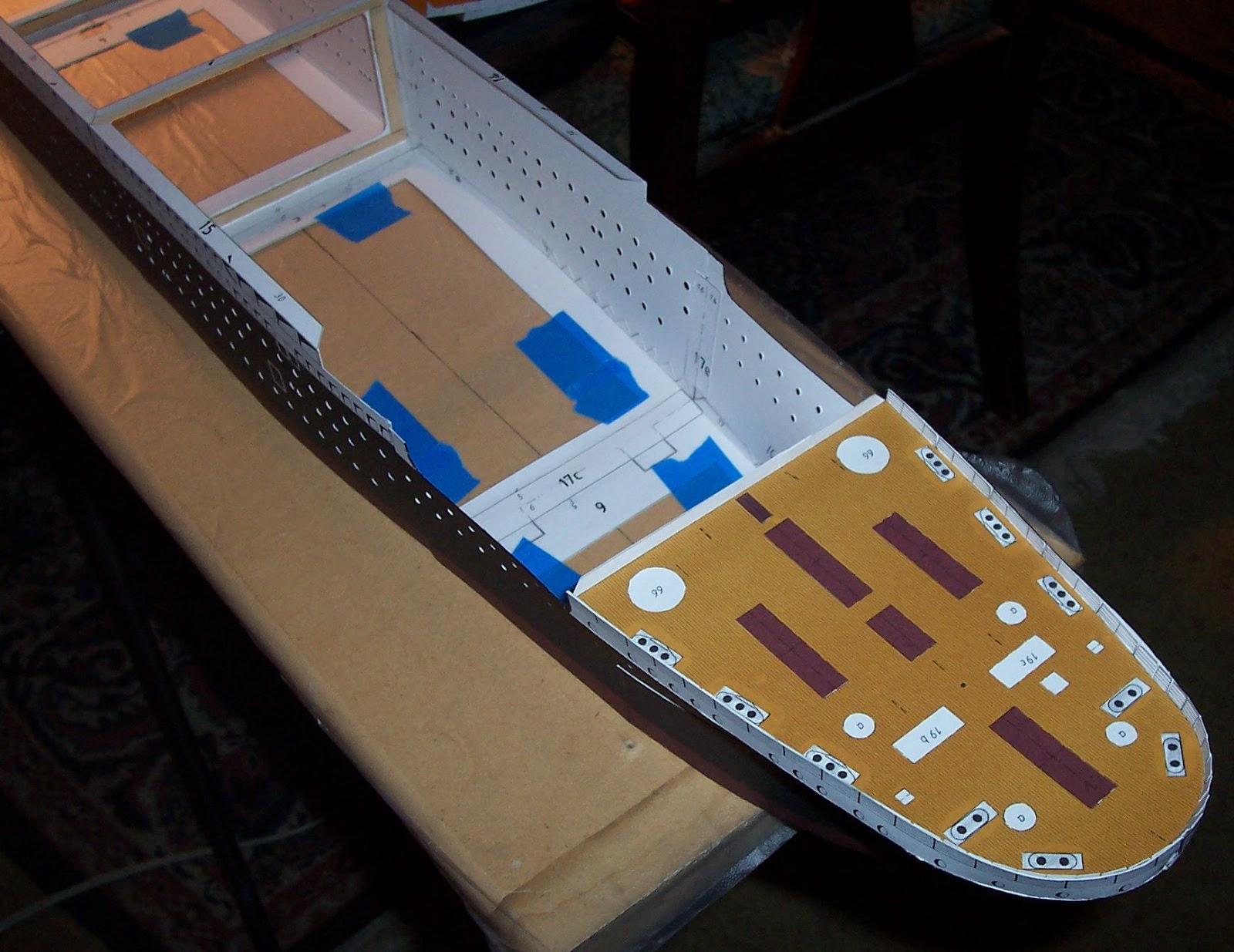 build model ship out cardboard | building fibreglass boat hull