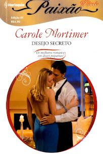 "Capa do Mini livro ""Desejo Secreto"", de Carole Mortimer"