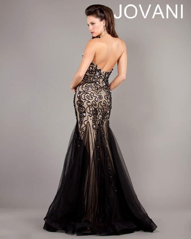 Jovani Prom Dresses 2013 Black Lace Mermaid