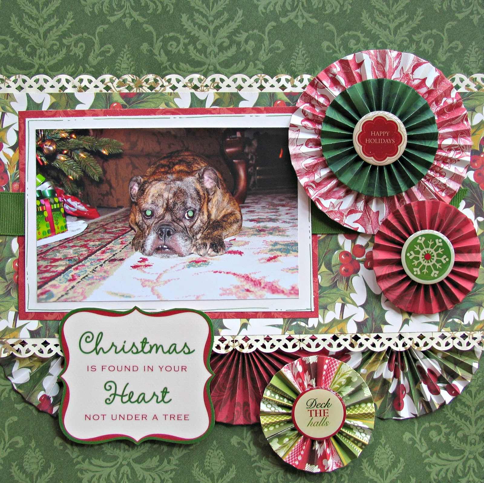 My pieces of time more anna griffin christmas for Christmas layout ideas