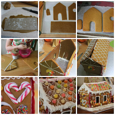Green Gourmet Giraffe: How to make a gingerbread house