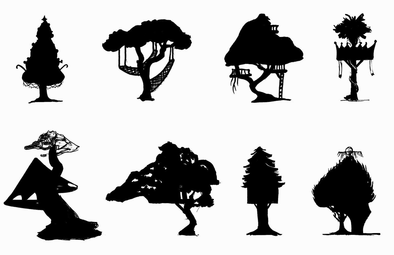 background  environment design  tree house sketches