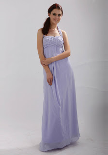 Halter Chiffon Floor Length Prom/Evening Dress