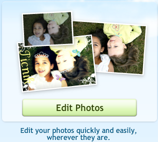 Picnik edit photo button