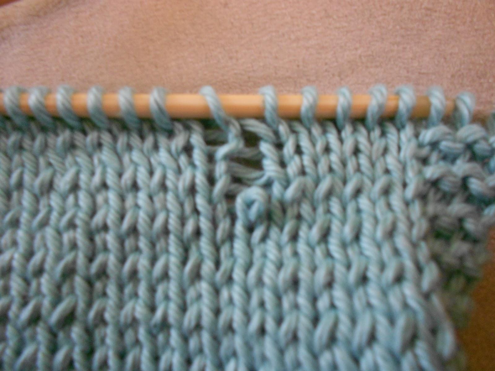 Picking Up Dropped Stitches Knitting Stockinette : Blue Betty: Technique Tuesday: Saving A Dropped Stitch (Stockinette Stitch)