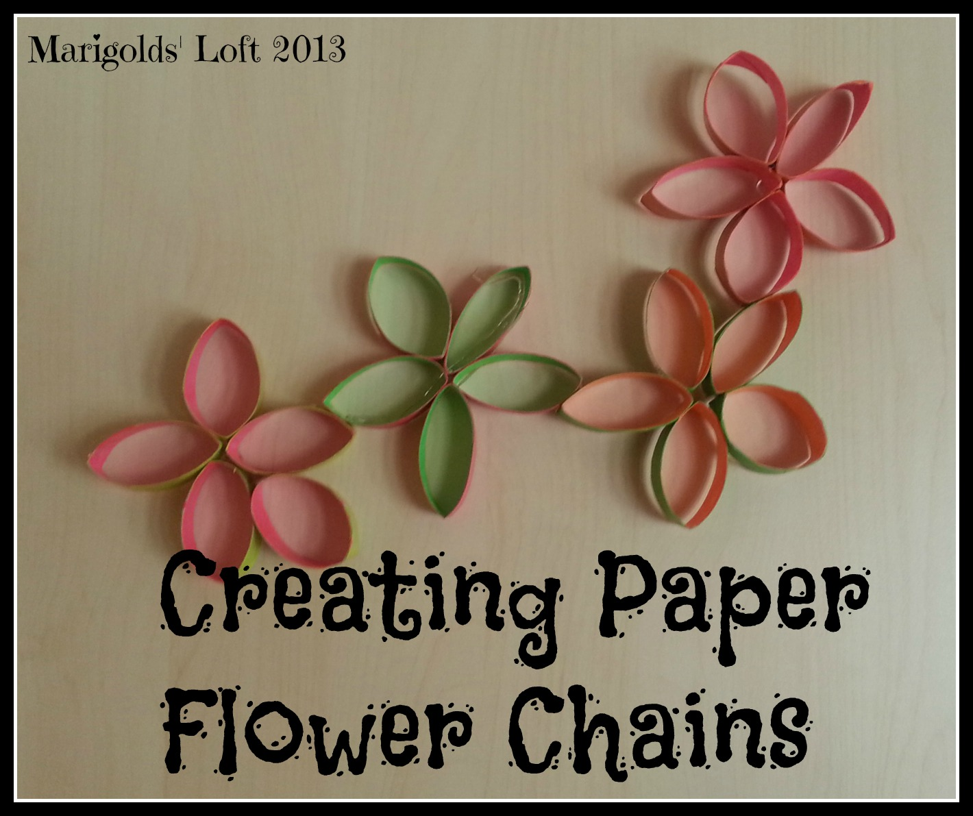 Marigolds loft recycled paper flower chains tutorial recycled paper flower chains tutorial mightylinksfo