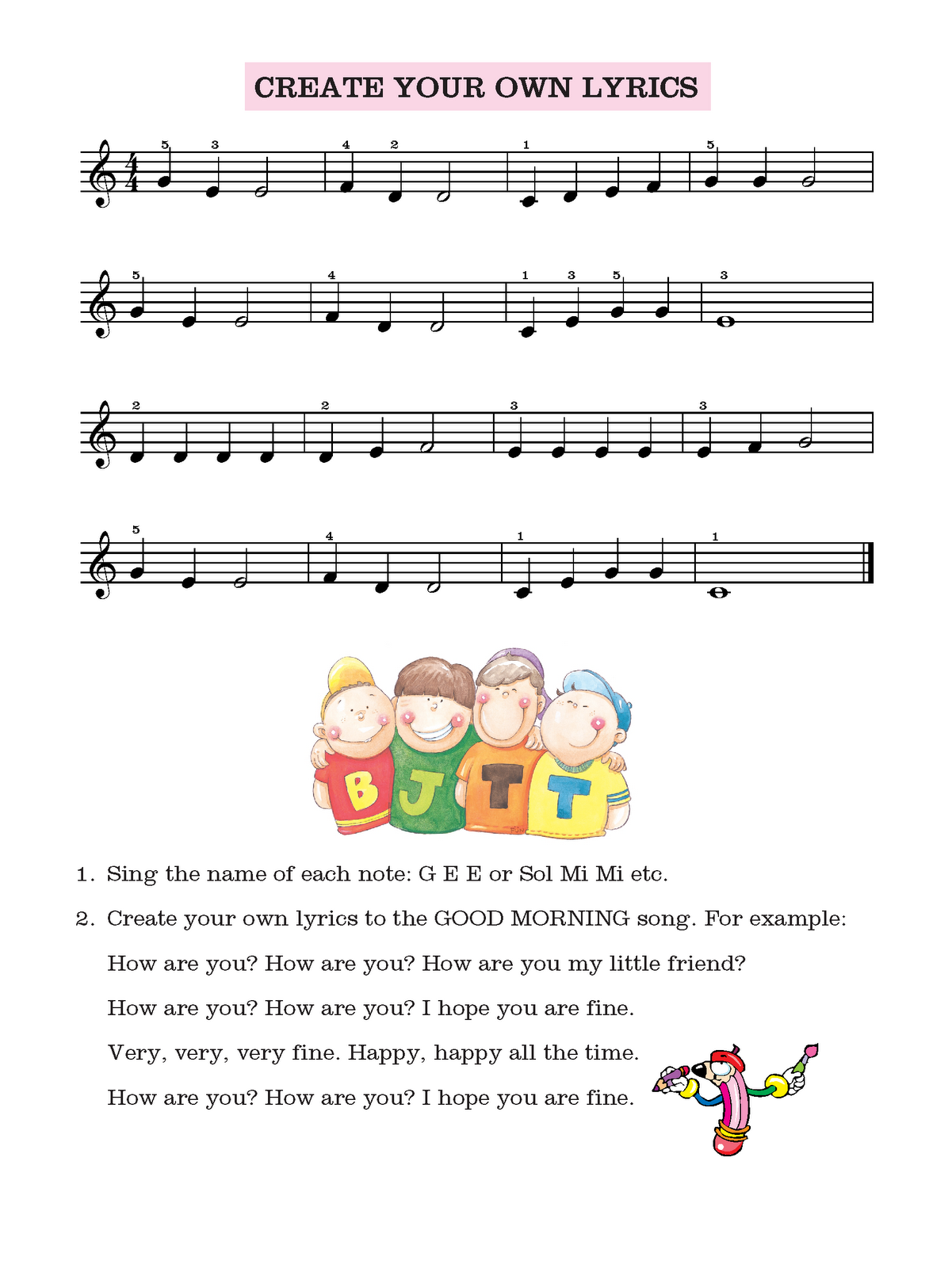 Create%2BYour%2BOwn%2BLyrics - Singing Lessons In Frogville Oklahoma