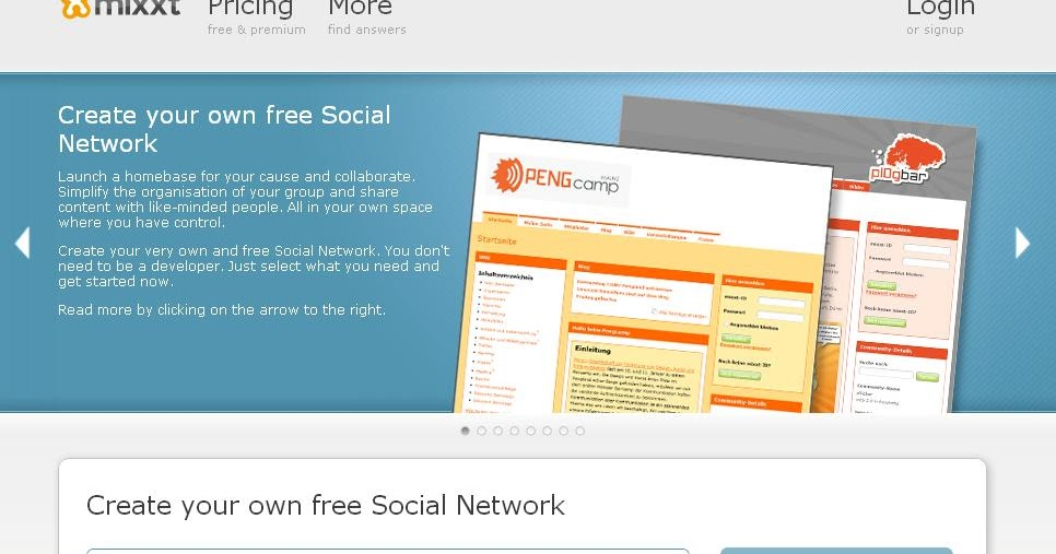 Create A Free Website And Blog Create Your Own Social Networking Site Free With Mixxt