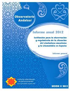 INFORME ANUAL DE 2012 DEL OBSERVATORIO ANDALUSÍ