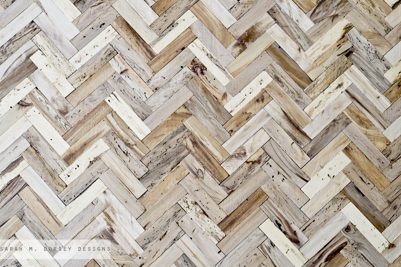 Sarah m dorsey designs herringbone table progress for Table design patterns