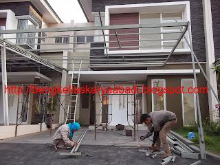 proses pekerjaan canopy minimalis