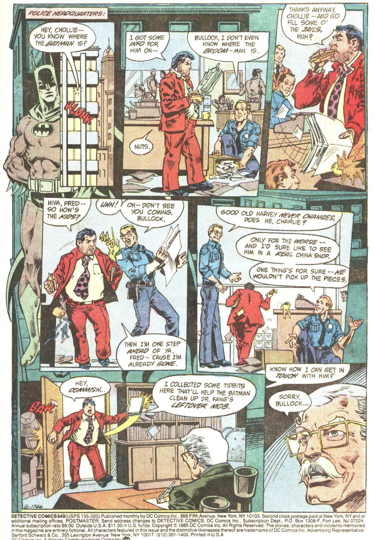 Detective Comics (1937) Issue #549 Page 2