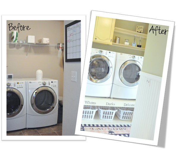 Our Story Laundry Room Organization