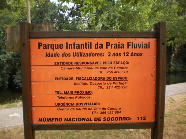 Informações para utilizadores do parque Infantil