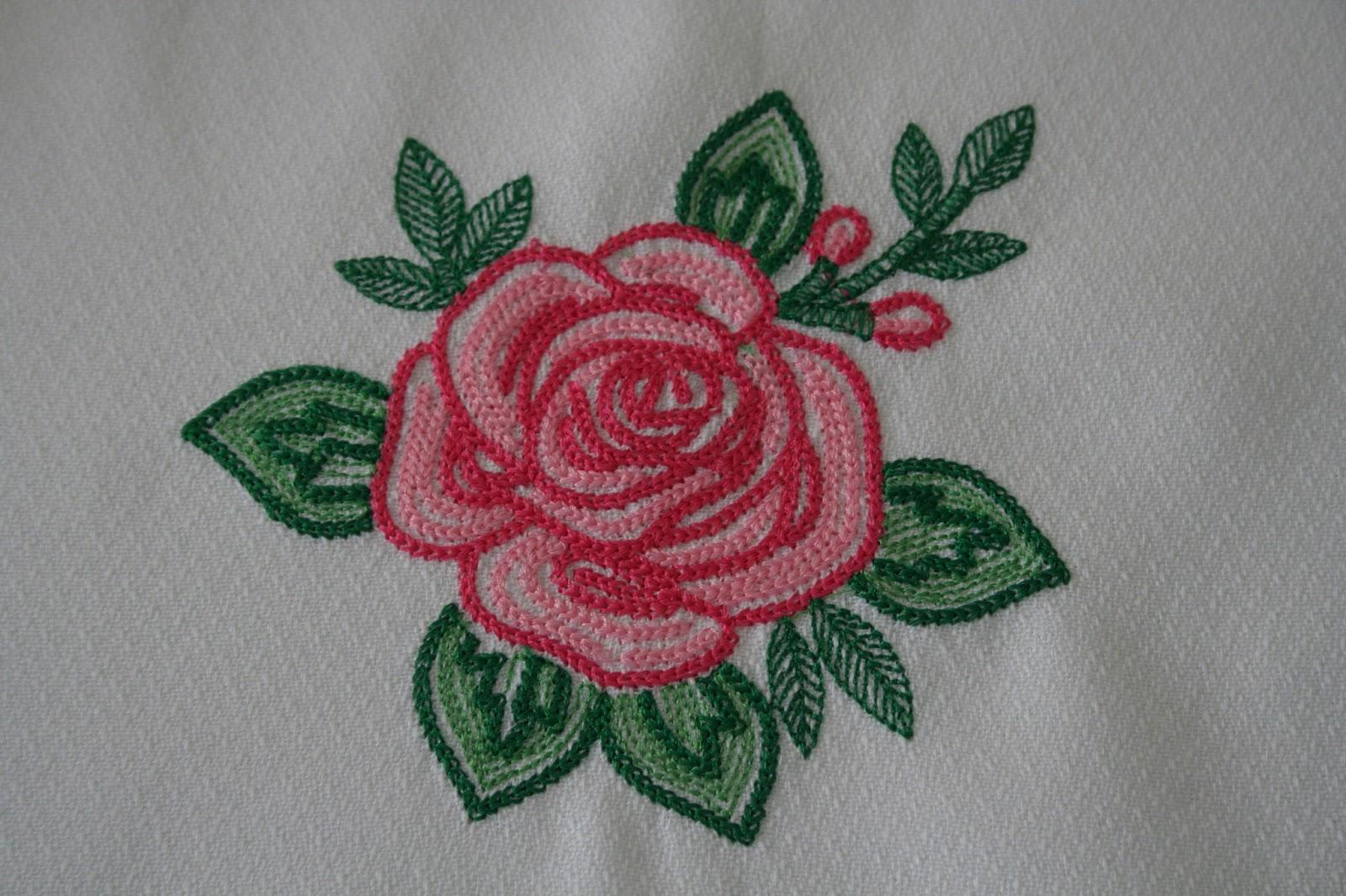 Entre Agujas Y Canillas La Mar De Bordados Mantel Con Rosas - Manteles-para-bordar