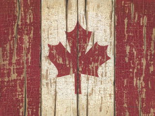 Weathered Canadian Flag