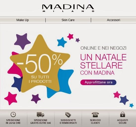 Madina - Sconto 50% su tutto per il Natale 2013