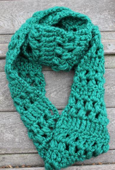 Skein And Hook Free Crochet Pattern Benson Infinity Scarf