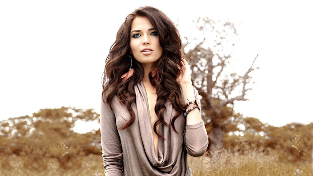 Beautiful Brunette HD Wallpaper