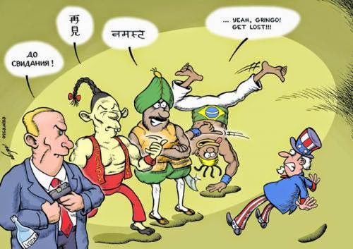 Cartoon, BRIC, BRICS, Russia, United States, India, China, Brazil, South Africa, Funny pictures,