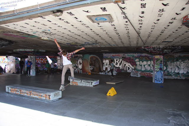 A Skater at the South Bank Skate Park