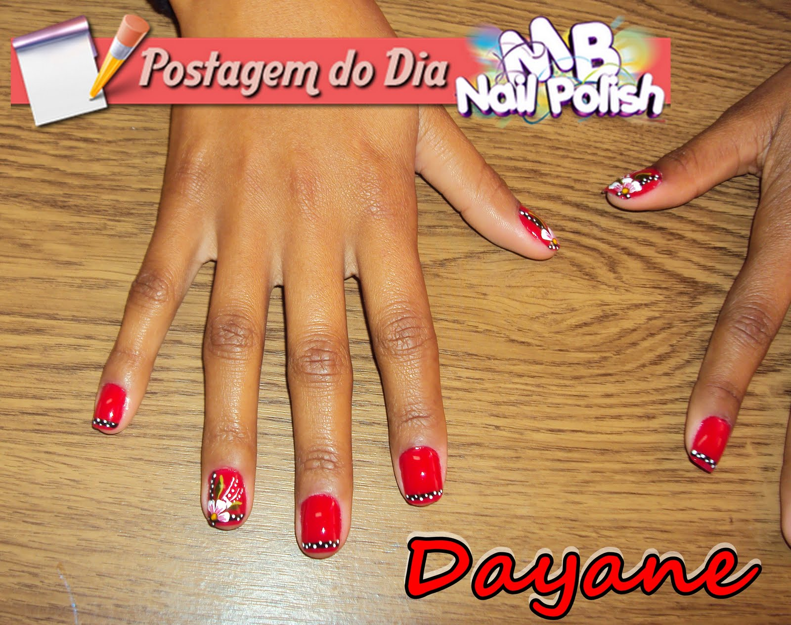 MB NailPolish Dayane unhas vermelhas decoradas para o casamento Decoraç u00e3o na unha postiça  -> Decoracao Unhas Vermelhas