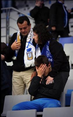Iván Conceiçao, jugador del Real Oviedo Infantil A tras acabar el partido.