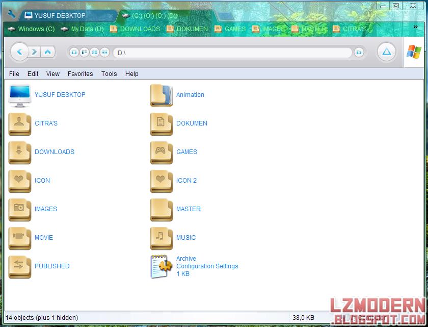 Cara Mengganti Tema Clover Pada Windows Explorer