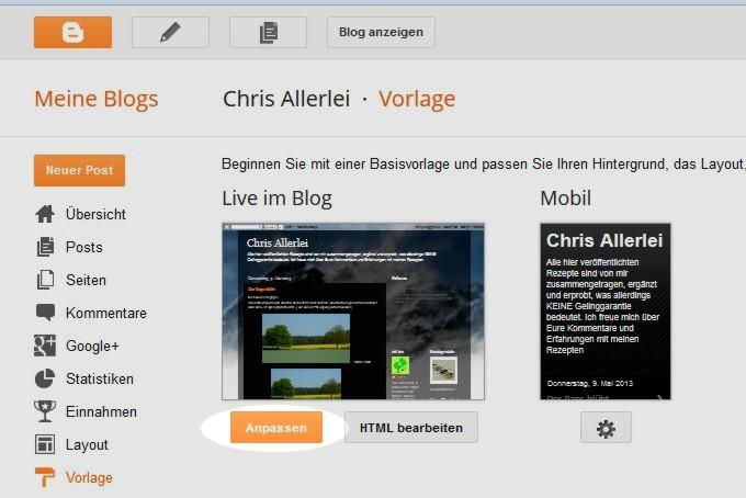 Chris Allerlei: Neues Hintergrundbild für den Blog