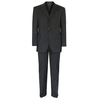 canali virgin wool pinstriped suit