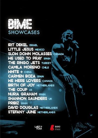 BIME, 2014, cartel, festival, concierto, showcases