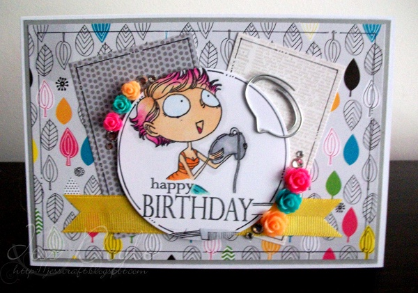 Jess Crafts Kraftin Kimmie Gamer Girl Birthday Card