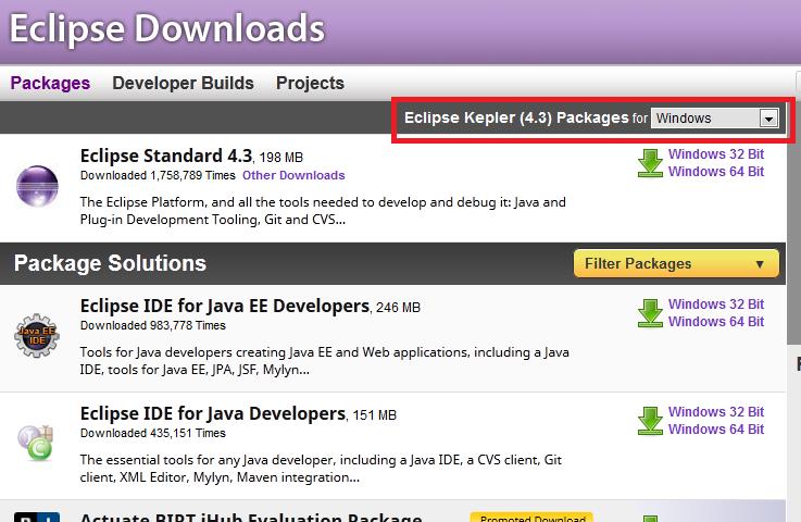download eclipse kepler