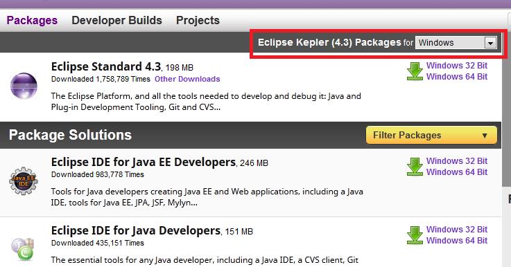 eclipse ide for java ee developers windows 32 bit download