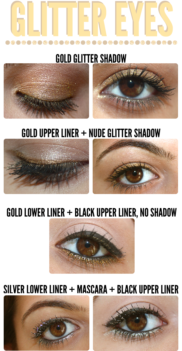 GIMME SOME GLITTER! HOW TO WEAR YOUR EYES ON METAL TONED GLITTER