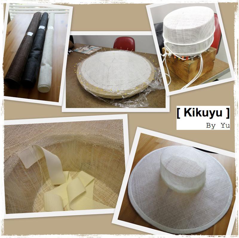 Steps wide brim sinamay hat