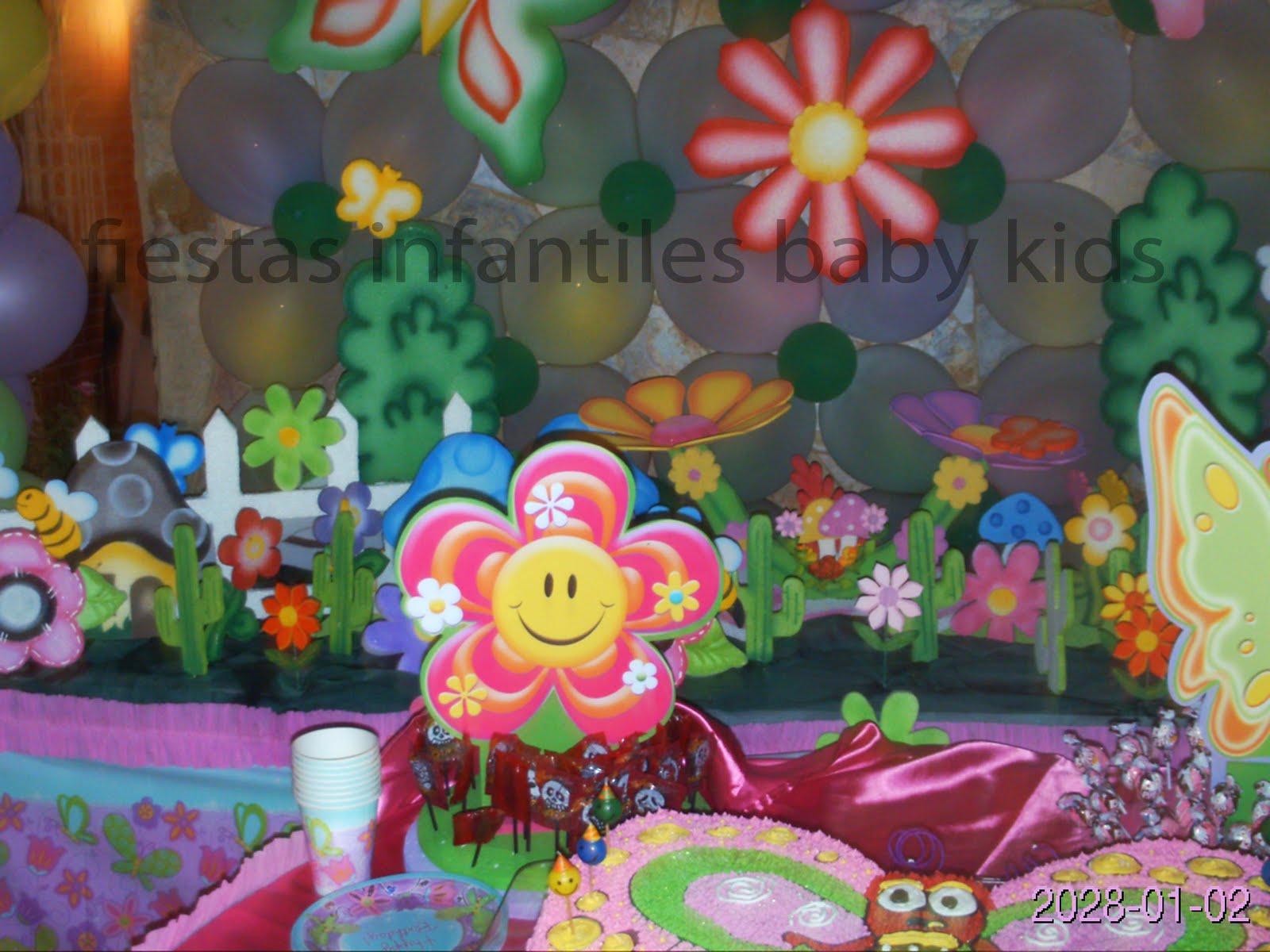 Fiestas infantiles baby kids decoracion de mariposa jardin - Decoracion para foto ...