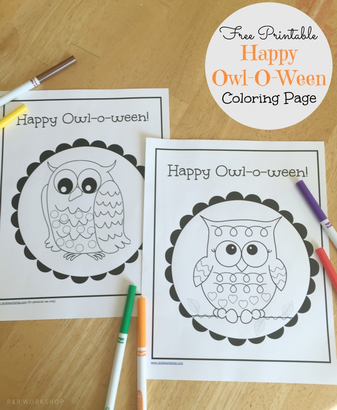 Happy Owl-O-Ween Coloring Page - Giggles Galore