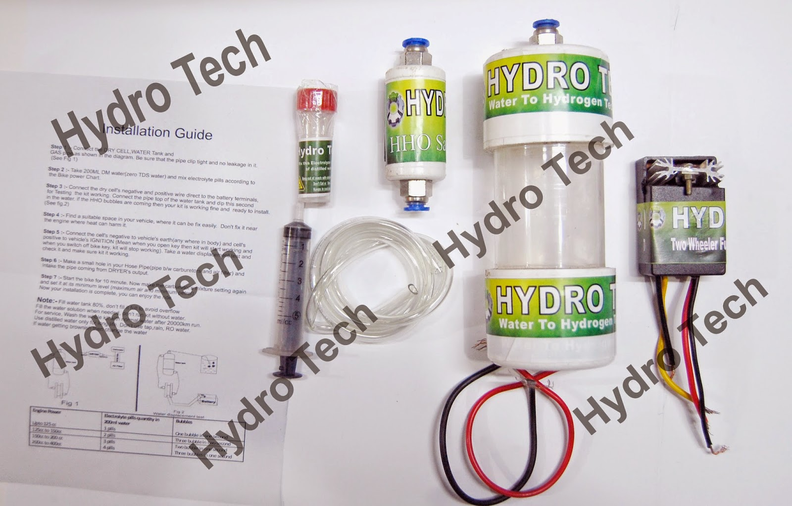 KIT HHO Dry Cell Hydro-Tech