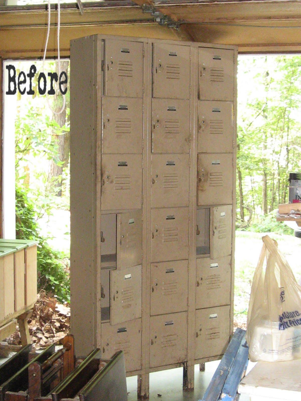 Painting Vintage Lockers
