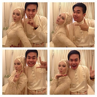 Gambar akad nikah Apek Khairul Fahmi dan leuniey Natasha