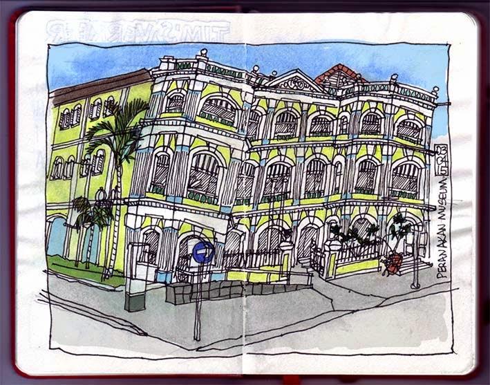 Peranakan Museum sketch