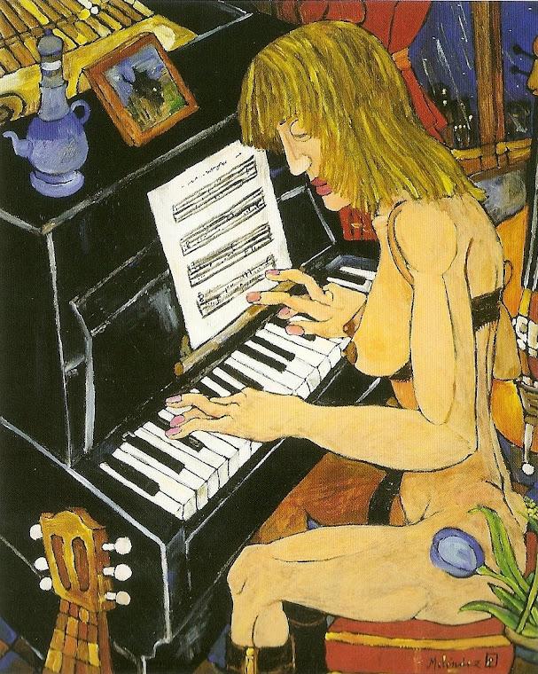 Solista de piano 81x65cm