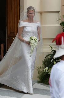 Charlene Wittstock menyasszonyi ruhája 2011