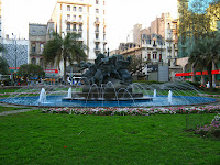 "Monument  ""entrevero"" centre of montevideo"