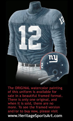 New York Giants 1962 uniform